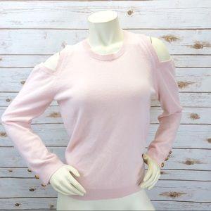 LRL Cashmere Cold Shoulder Sweater Sz M ::C7
